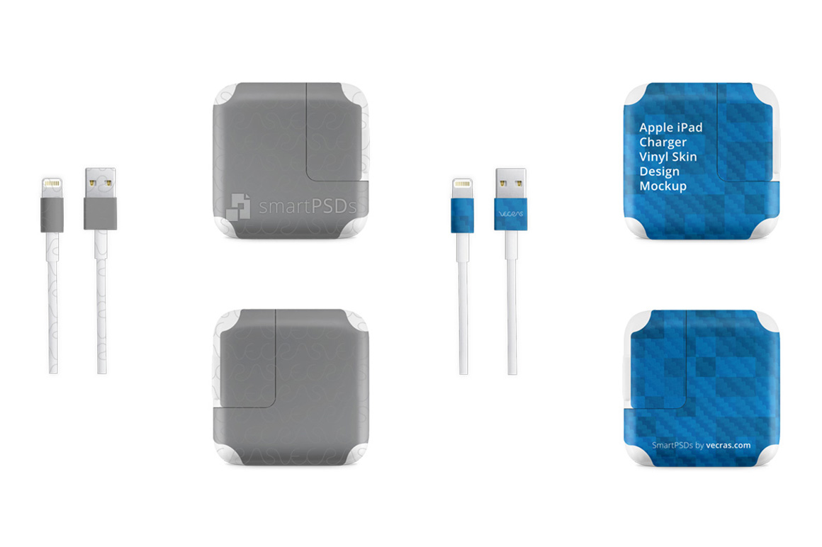 Apple iPad Power Adapter Vinyl Skin Design Mockup example image 1
