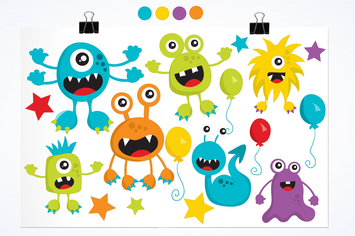Party Monsters graphics and illustrations example image 2