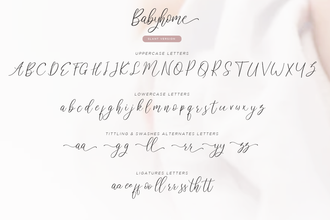 Babyhome Elegant Script in Two Version example image 11