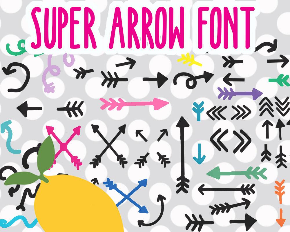 SUPER ARROW FONT example image 2