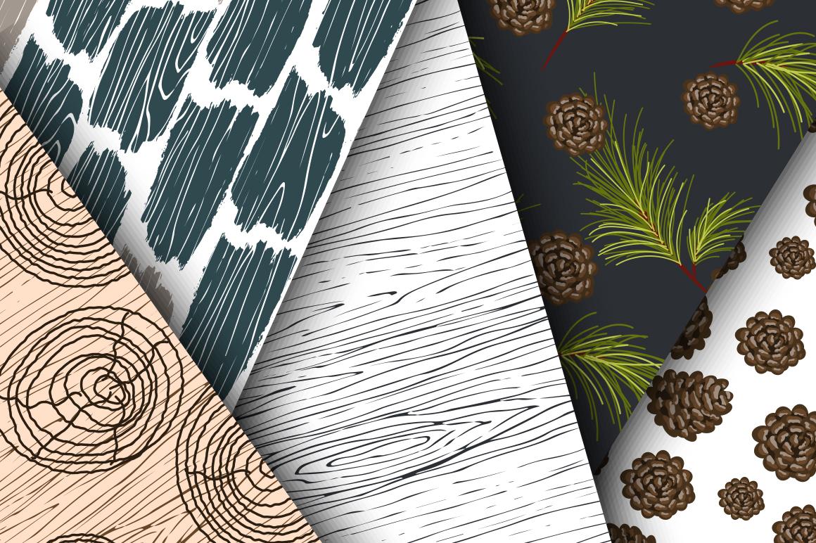 Woods Rhapsody Seamless Patterns example image 4