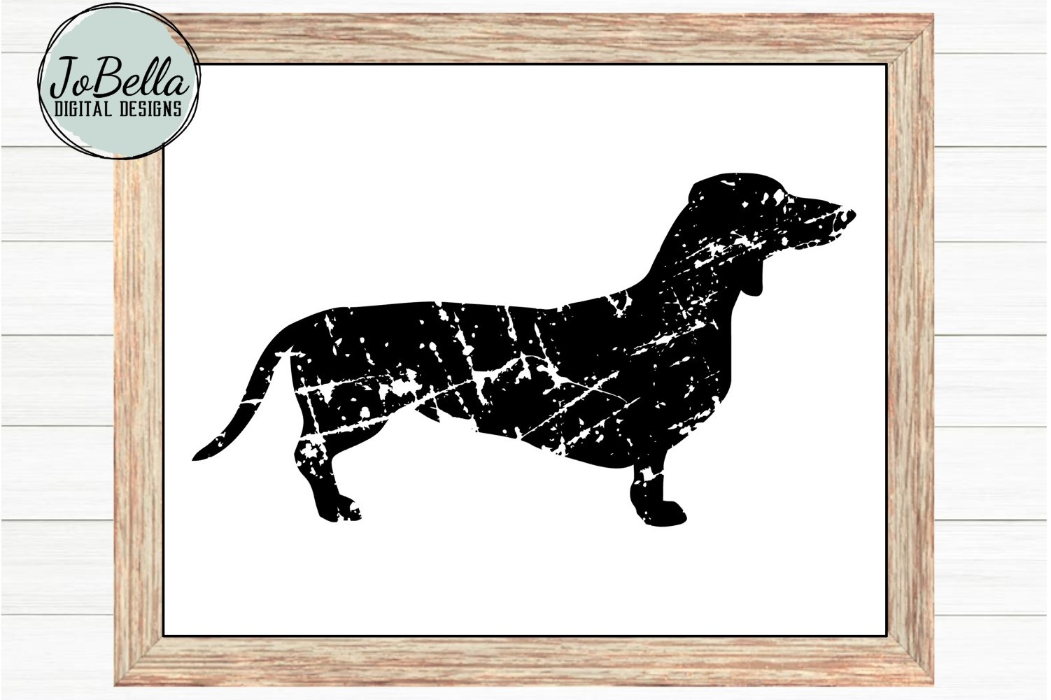 Grunge Dachshund SVG and Printable Dog Lover Design example image 2