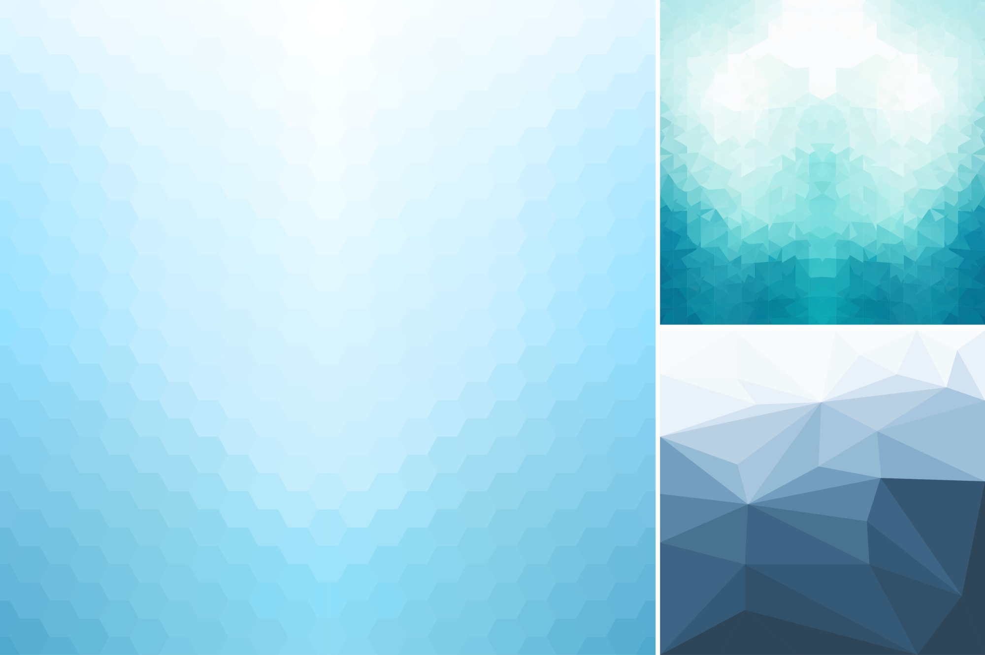 Blue abstract geometric backgrounds. example image 5