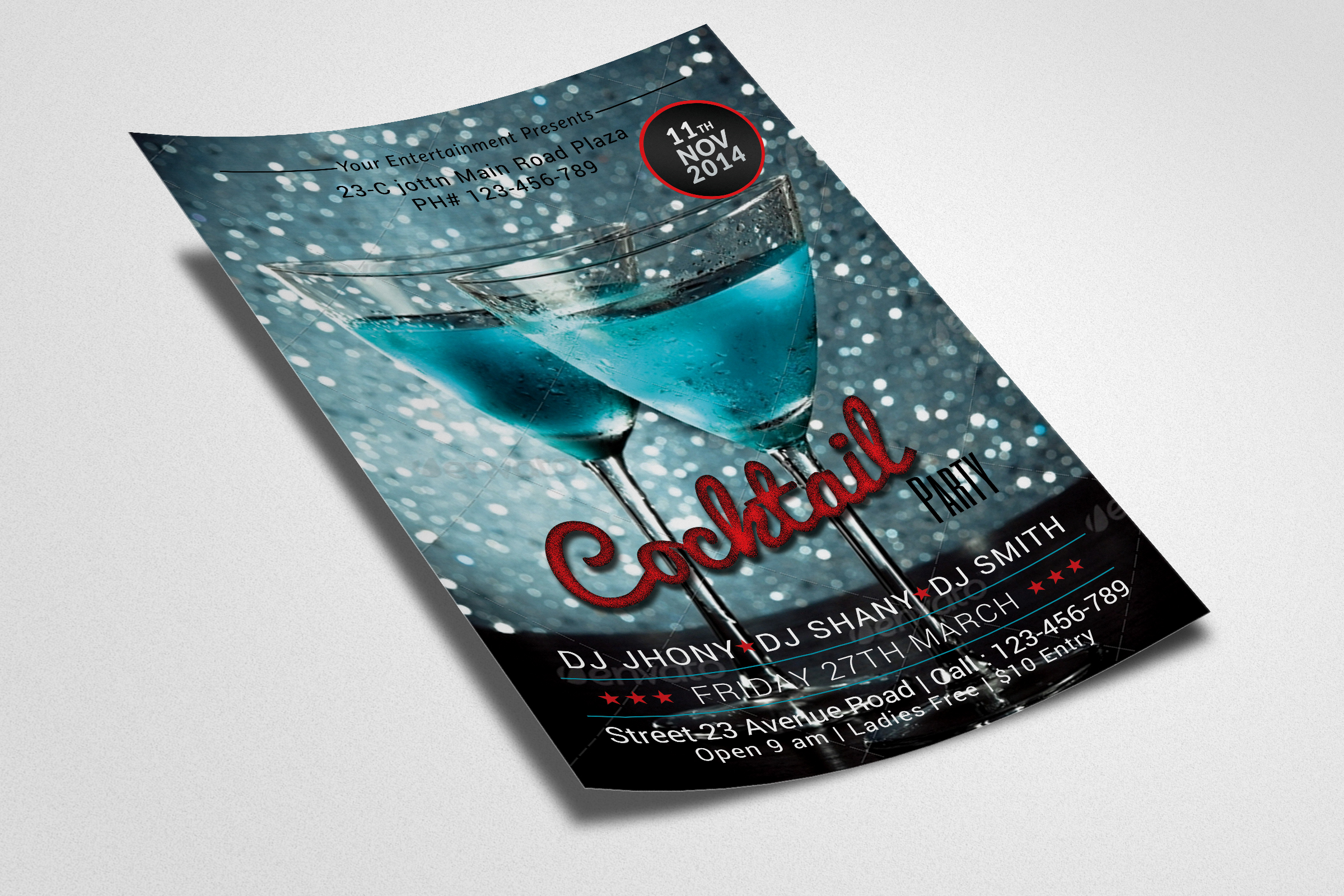 Cocktail Party Flyers example image 2