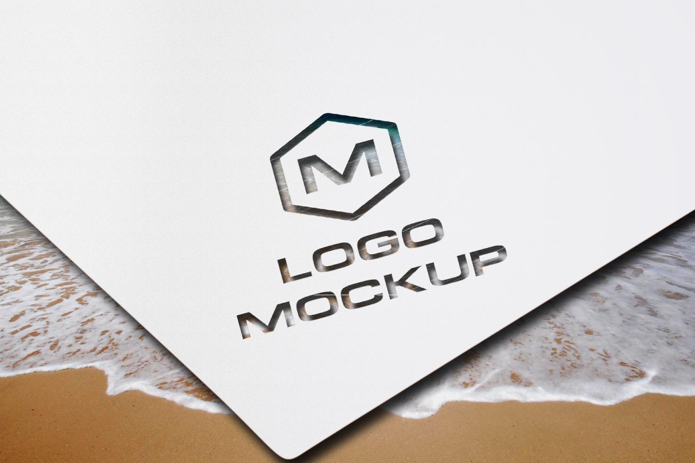 8 logo mockups, 3d wall mock up example image 2