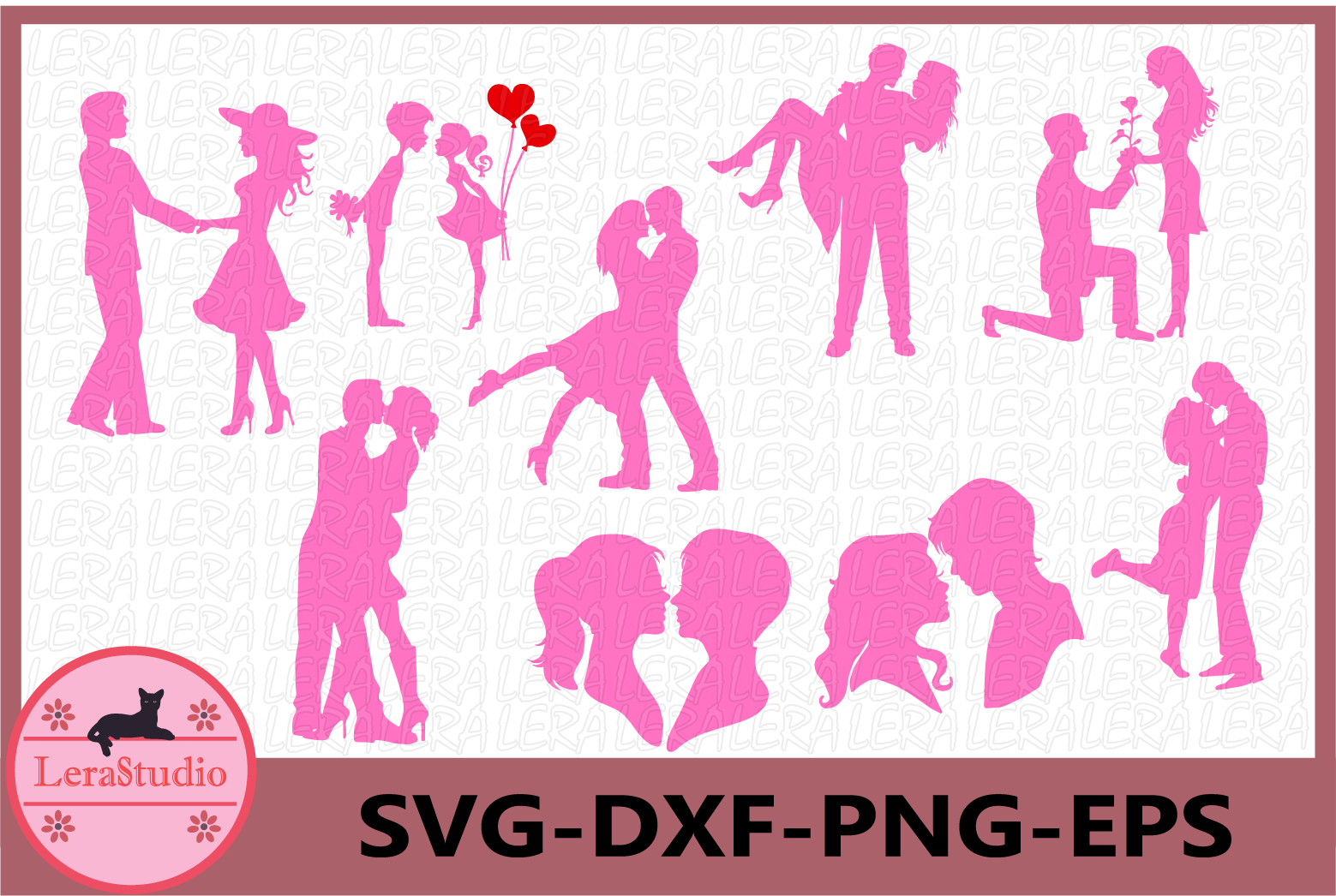 Couples Silhouette, Couple Clipart, love couple svg, Couple example image 1