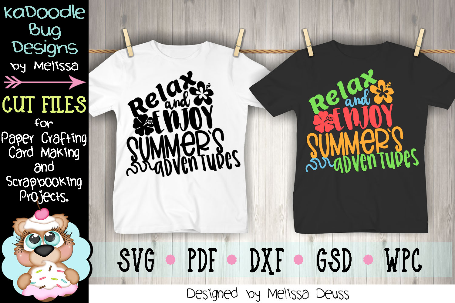 Relax and Enjoy Summer's Adventures Cut File - SVG PDF DXF example image 1