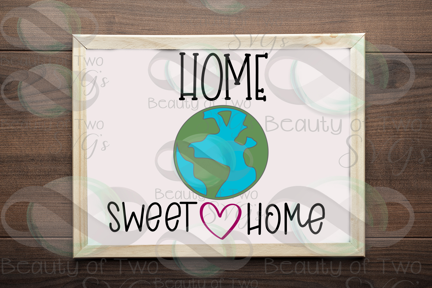 Earth Day svg and png, Home Sweet Home Earth svg, Earth Day example image 1