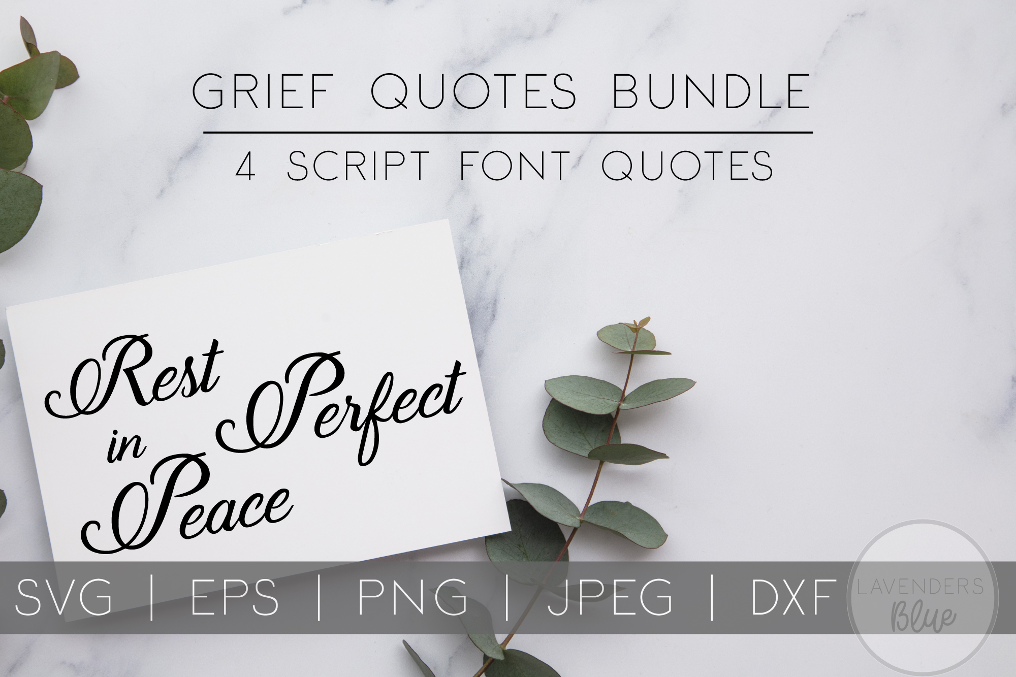 Rest in Peace SVG Bundle | EPS | PNG | DXF example image 1