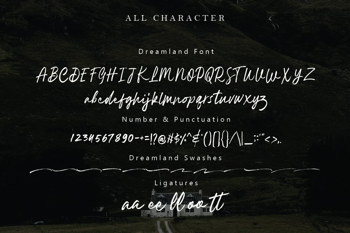 Dreamland | Brush Font example image 7