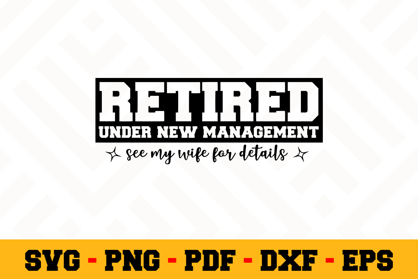 Retirement SVG Design n458 | Retired SVG Retirement Cut File example image 1