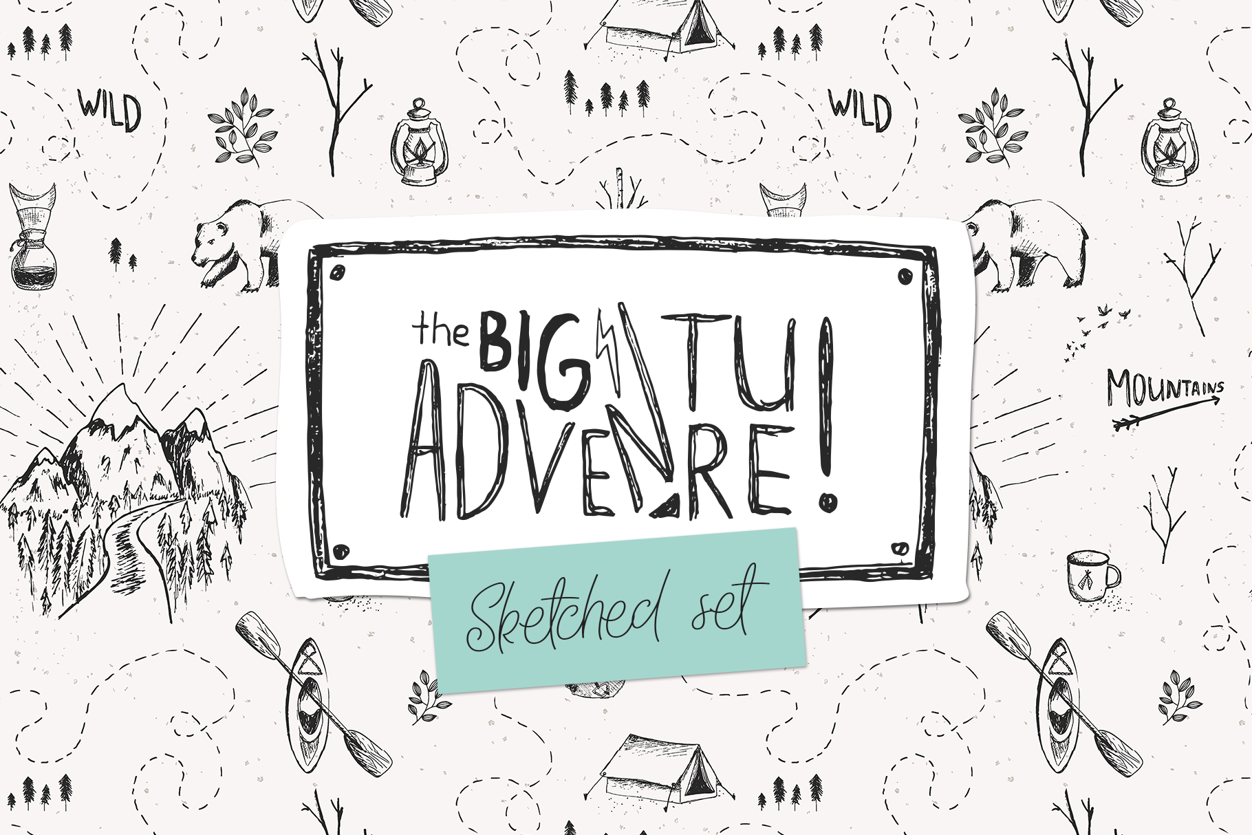 Big Adventure | Sketched Set example image 1