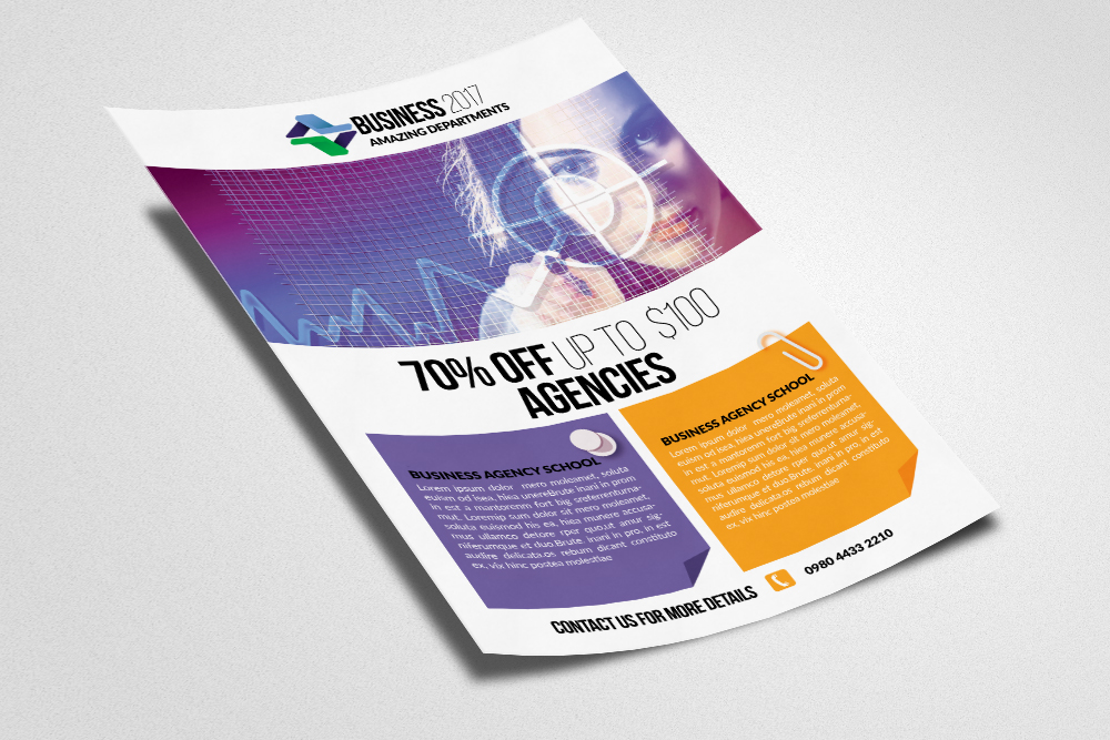 Marketing Consultant Business Flyer example image 3