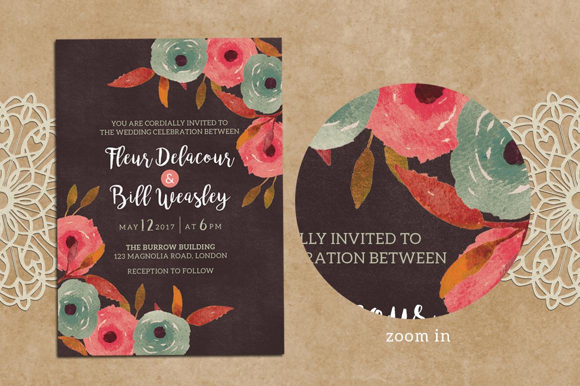 Rustic Wedding Invitation + RSVP example image 2