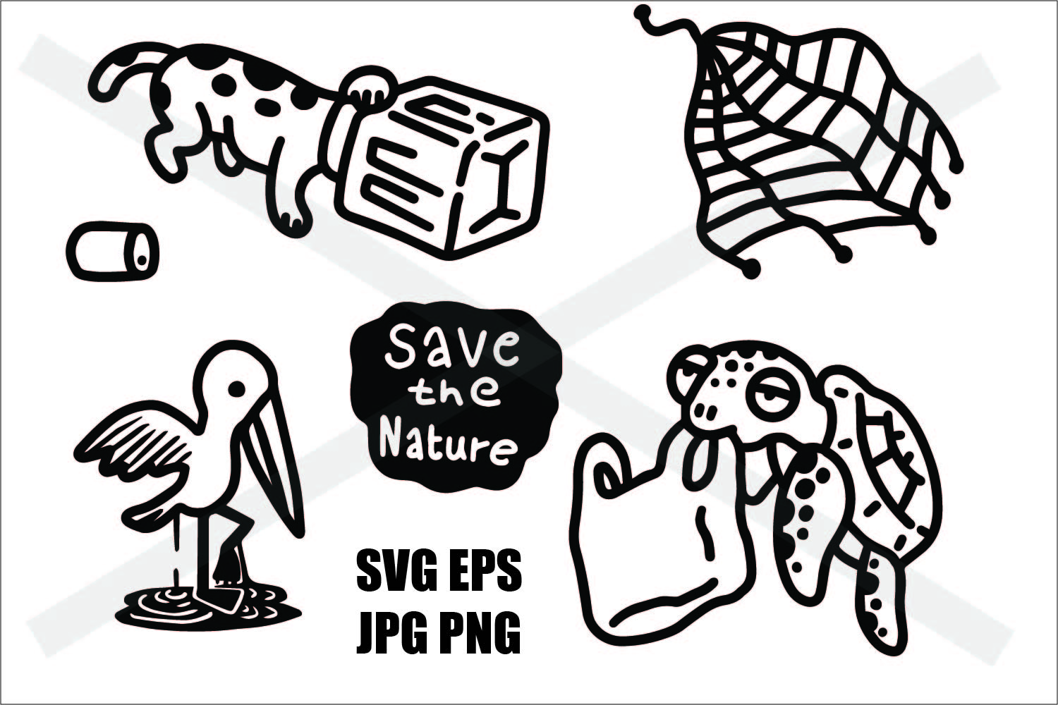 Save The Nature- Thin line and Thick Line - SVG/EPS/JPG/PNG example image 2