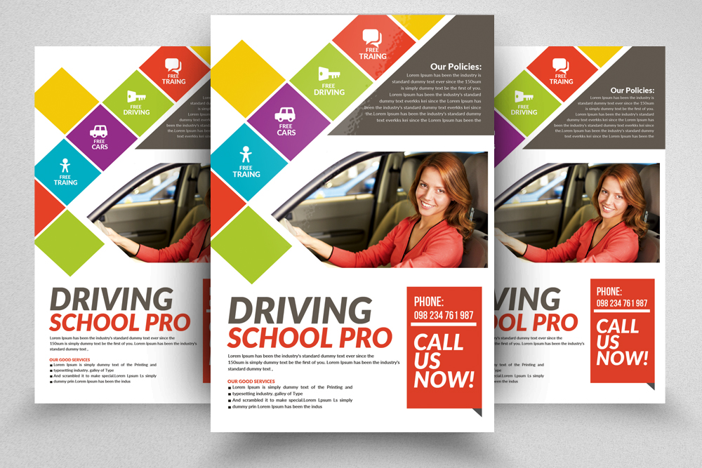 Driving School Flyers Templates example image 4