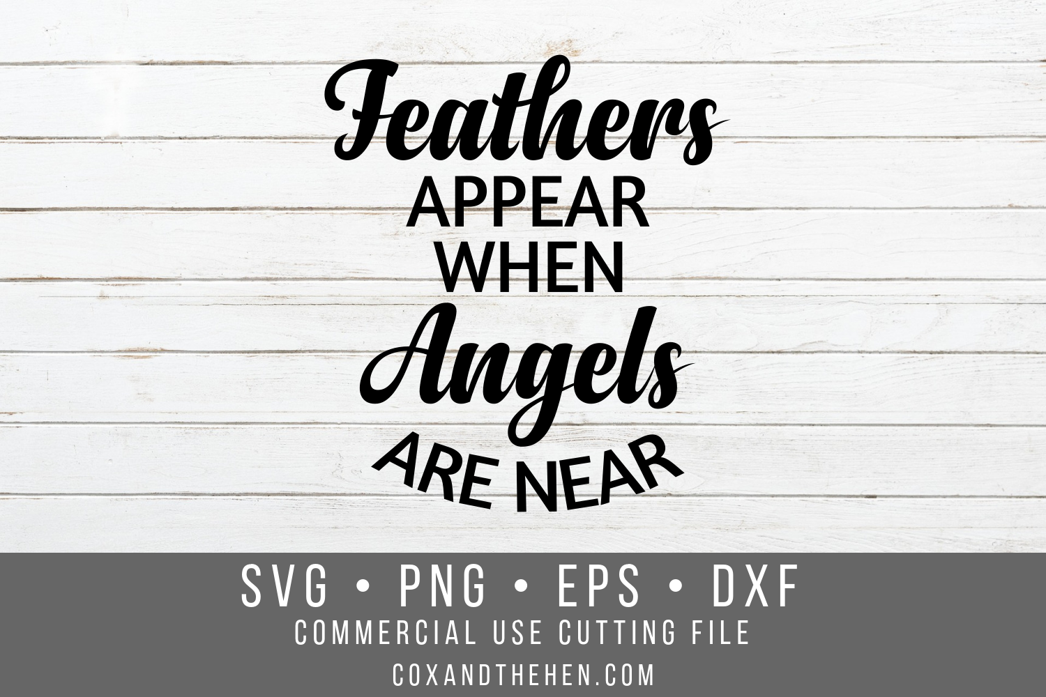Feathers Appear when Angels are Near SVG - memorial ornament example image 3