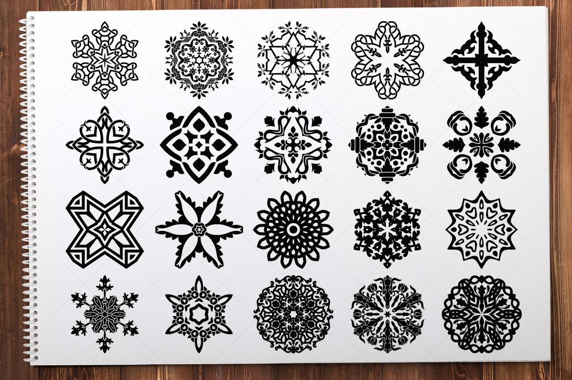 500 Vector Mandala Ornaments example image 15