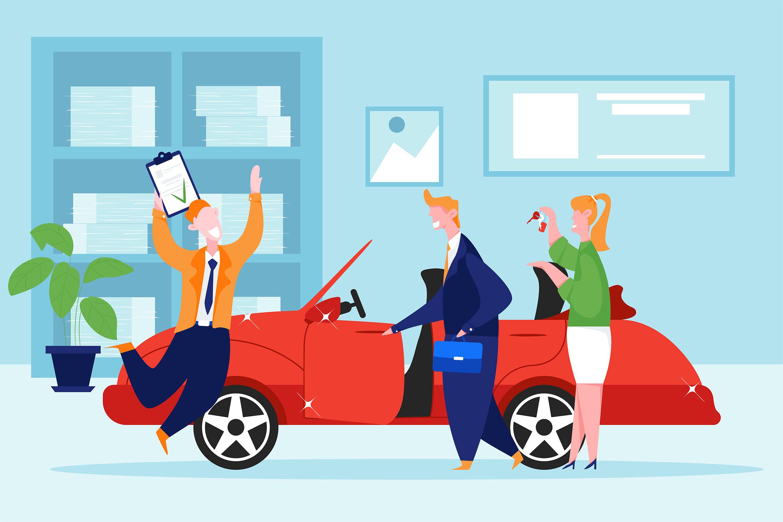 Car Dealership Vector Illustration Pack example image 12