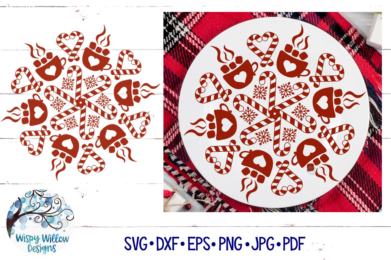 Winter Mandala SVG Bundle | Christmas Mandala SVG Cut Files example image 3