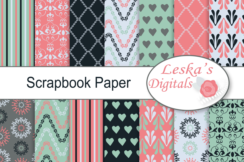 Digital Scrapbook Paper example image 1