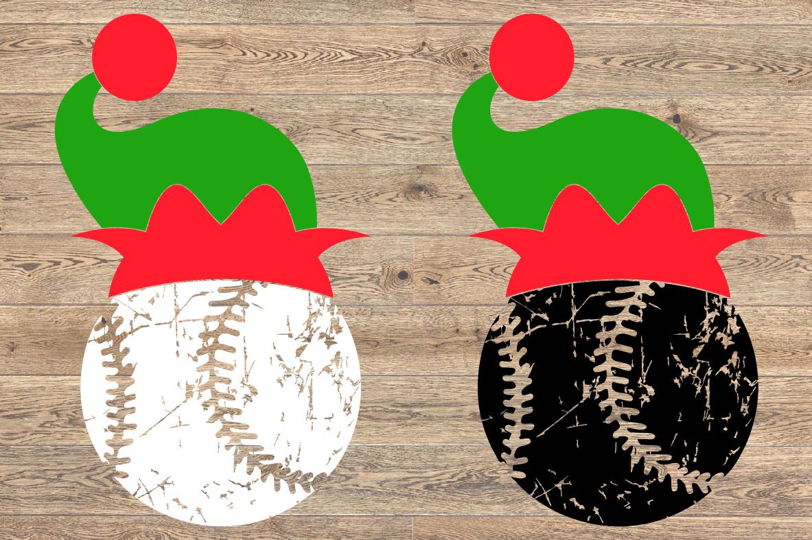 Baseball Christmas Hat svg Elf sweater 1046s example image 2
