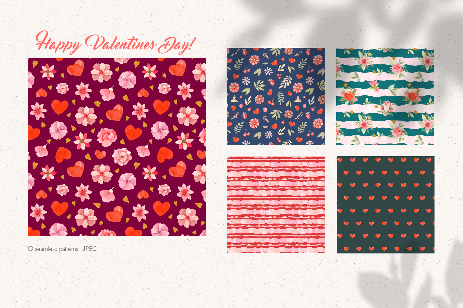 Valentines Day Seamless Patterns example image 4