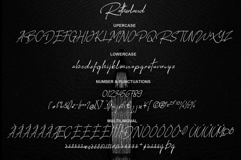Rotherland - Luxury Signature Font example image 9