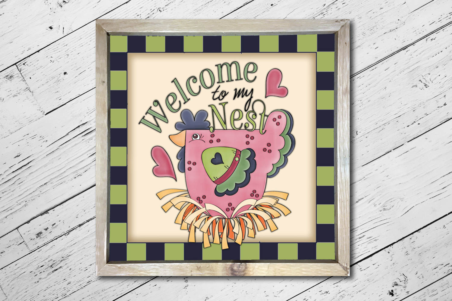 Welcome to My Nest Square Print example image 3