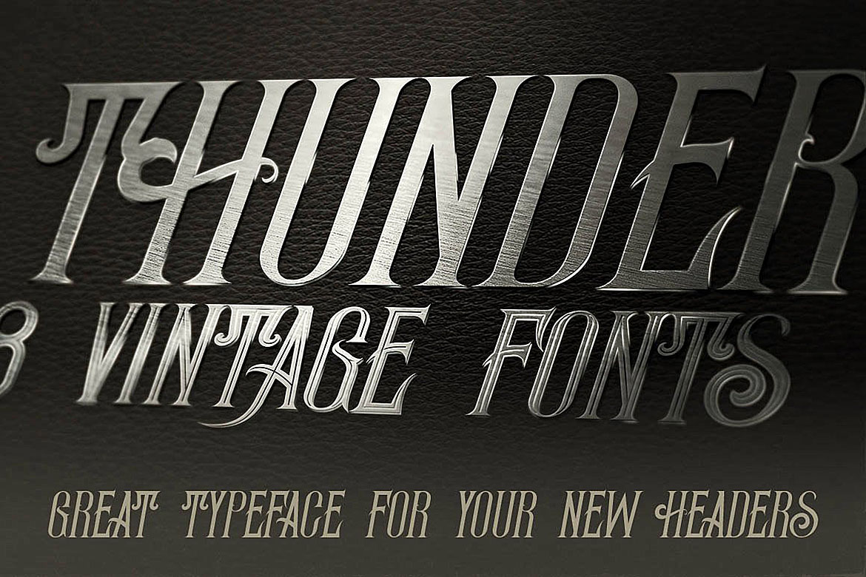 Thunder Typeface example image 4