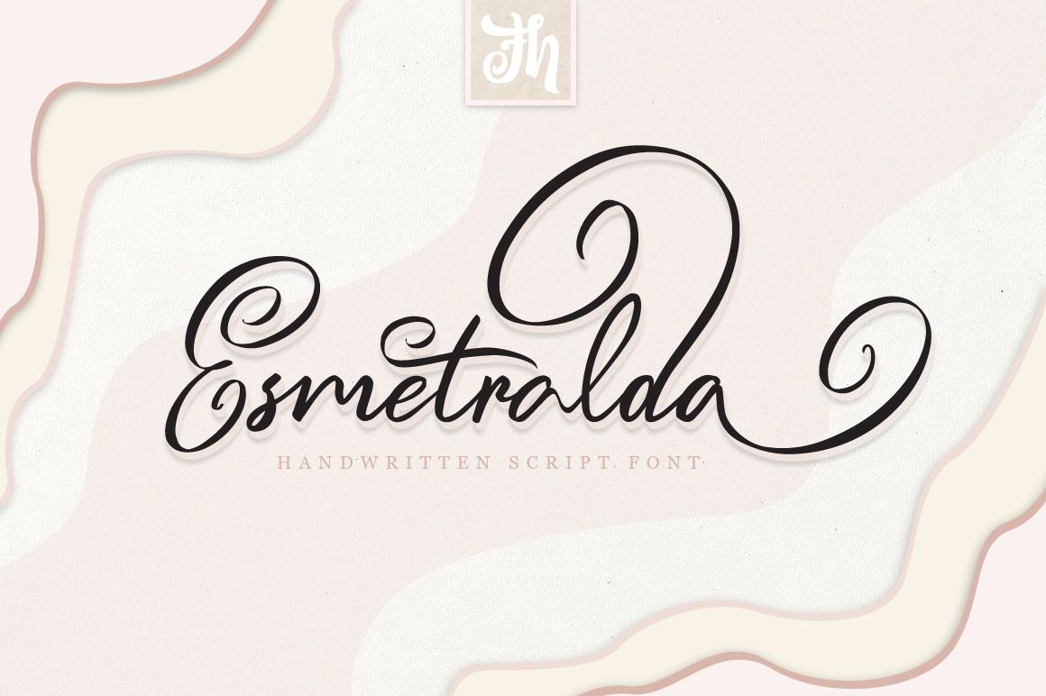 Esmetralda - Handwritten Font example image 1