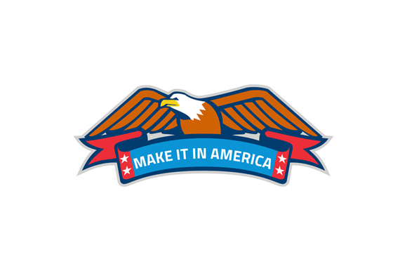 Make It In America Banner Eagle Retro example image 1