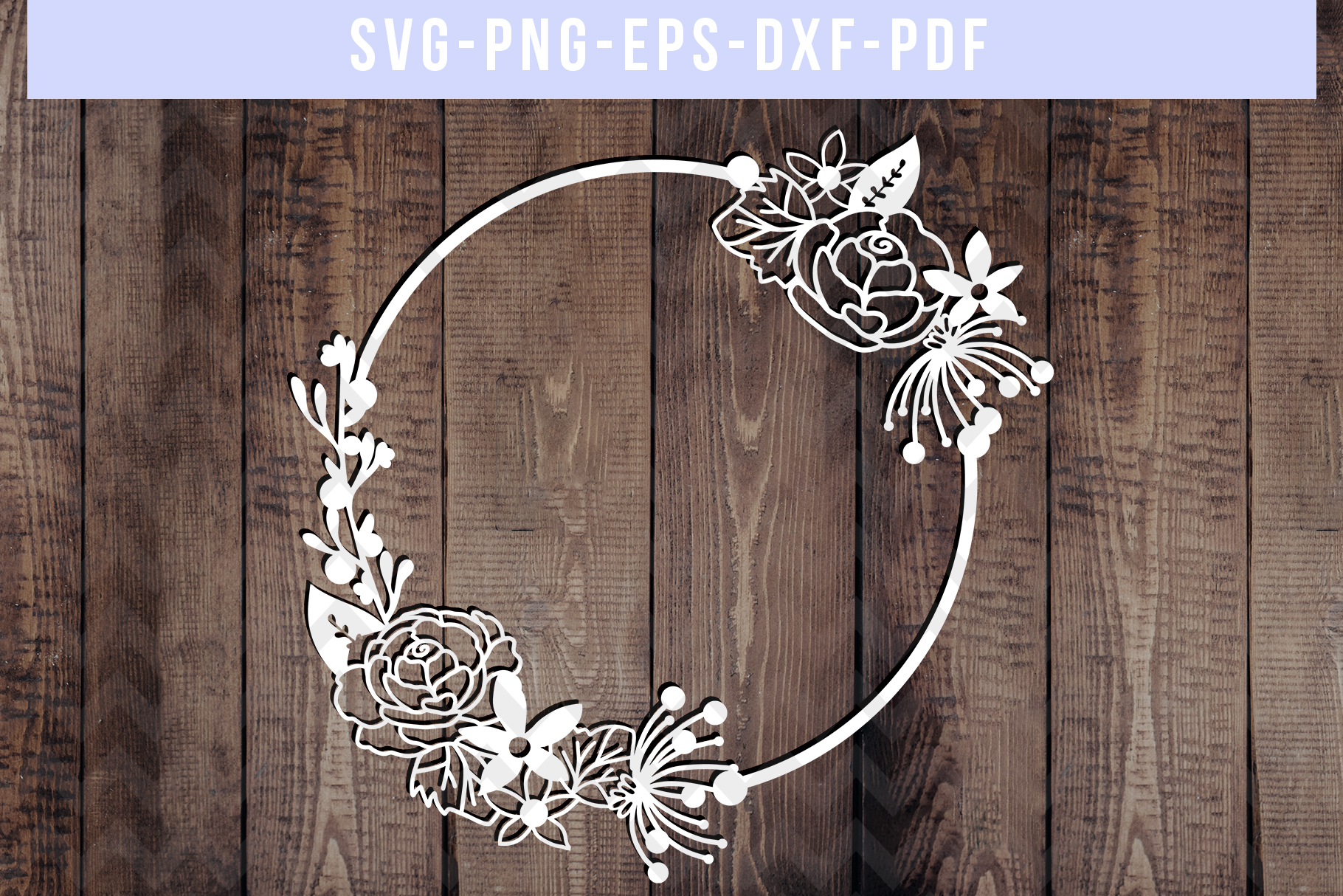 Bundle Of 9 Floral Wedding Papercut Templates, SVG, DXF. PDF example image 8