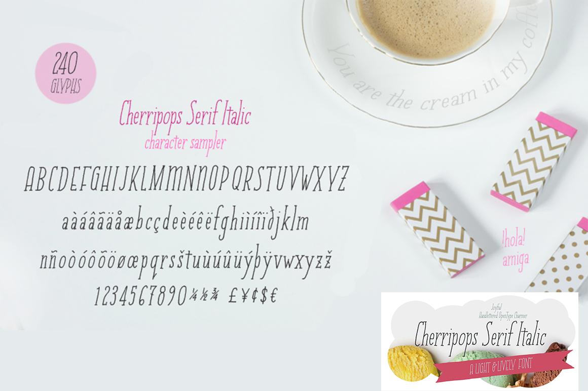 Cherripops Serif Italic example image 1