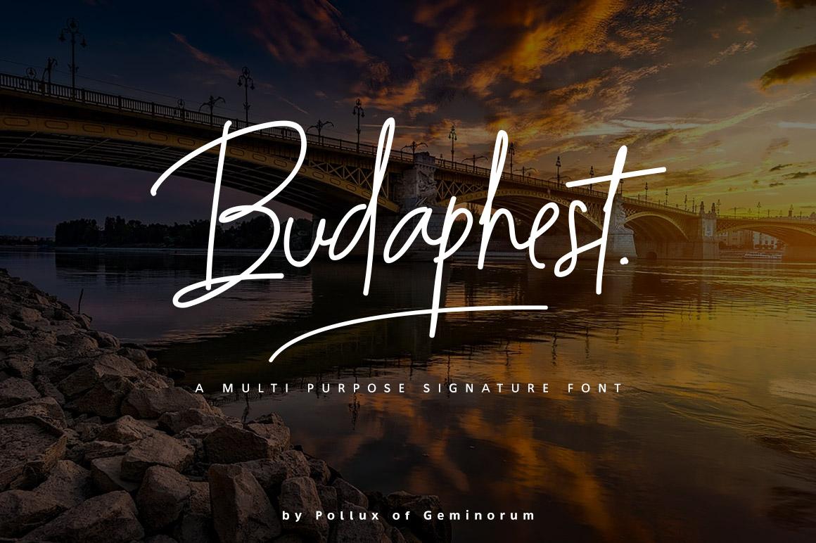Budaphest Script Font example image 1
