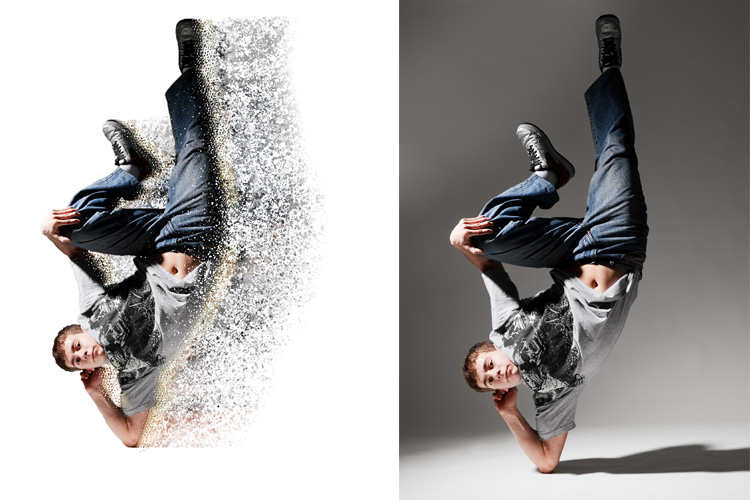 Splatter Dispersion Photoshop Action example image 8