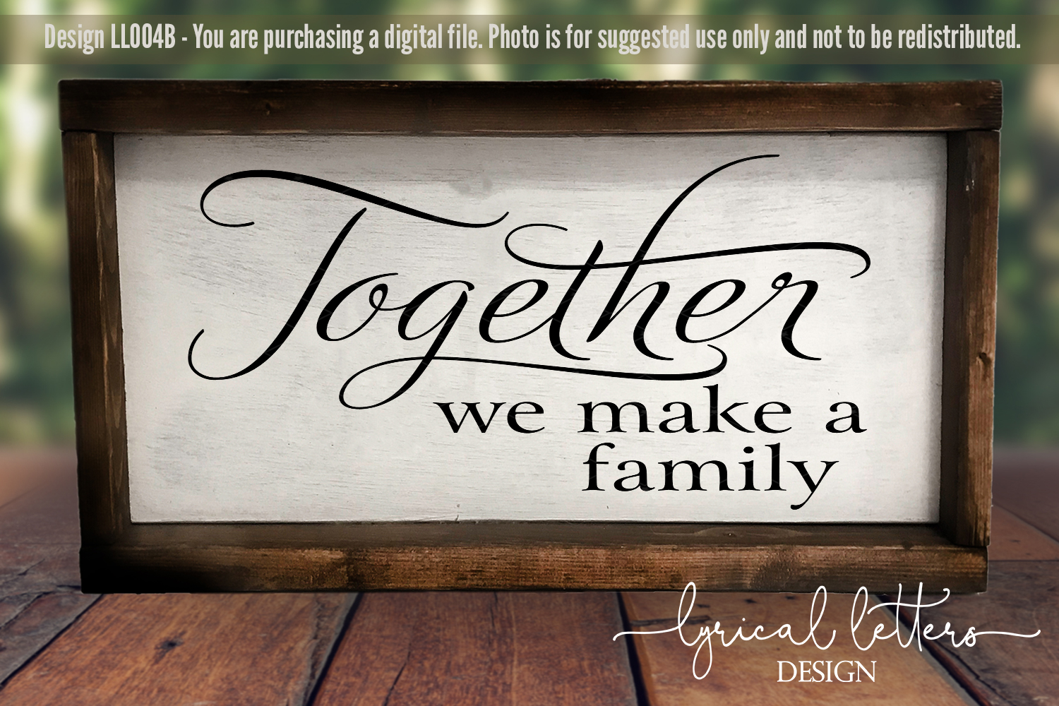 Together We Make a Family SVG Cut File LL004B example image 2