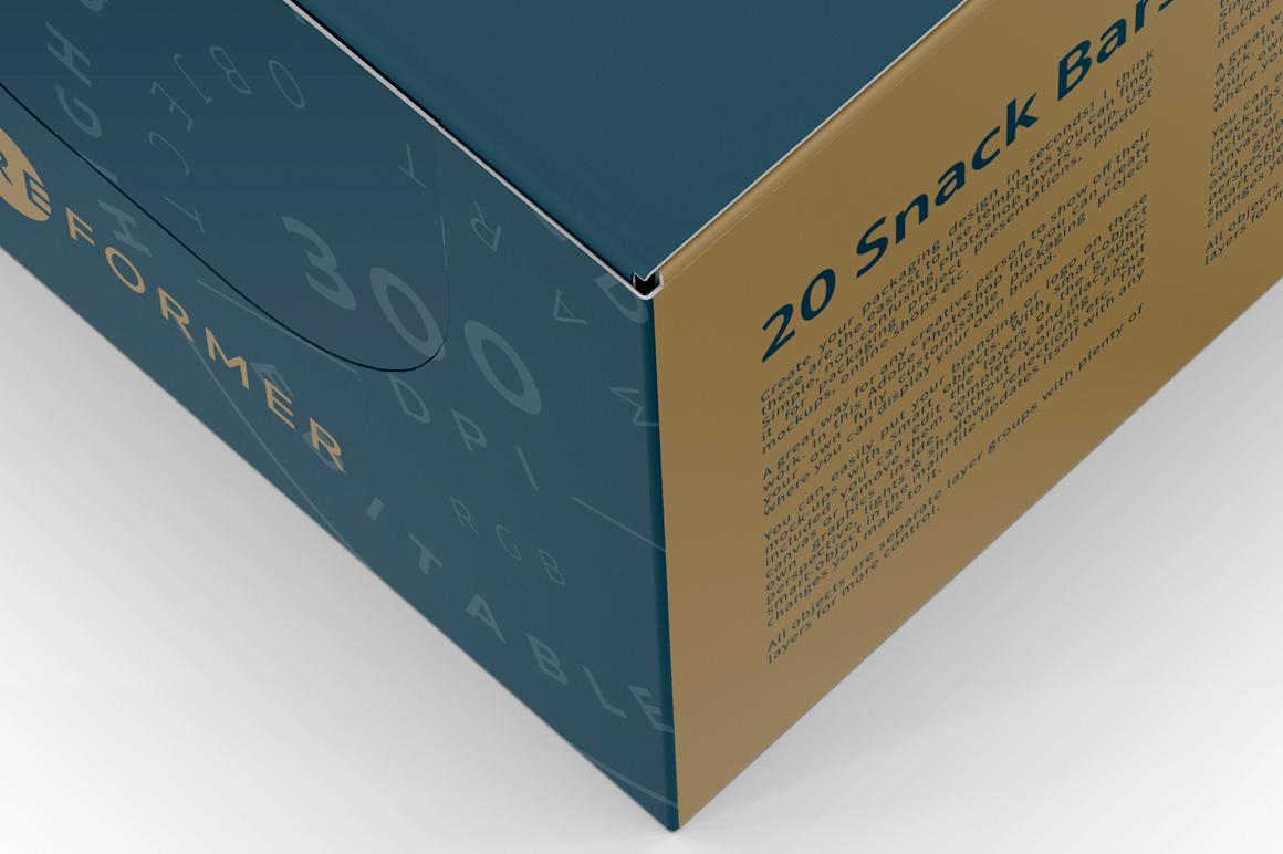 Snack Bars Box Mockup 20x80g example image 3