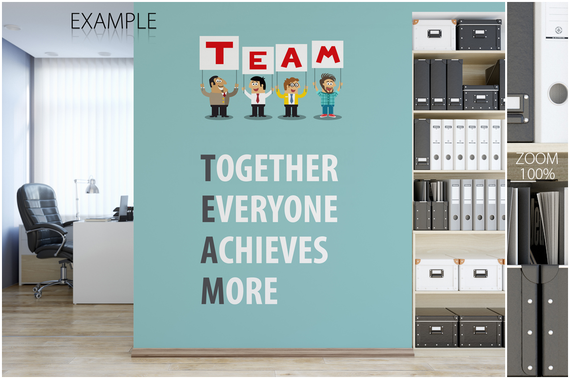 OFFICE Wall Mockup Bundle example image 3
