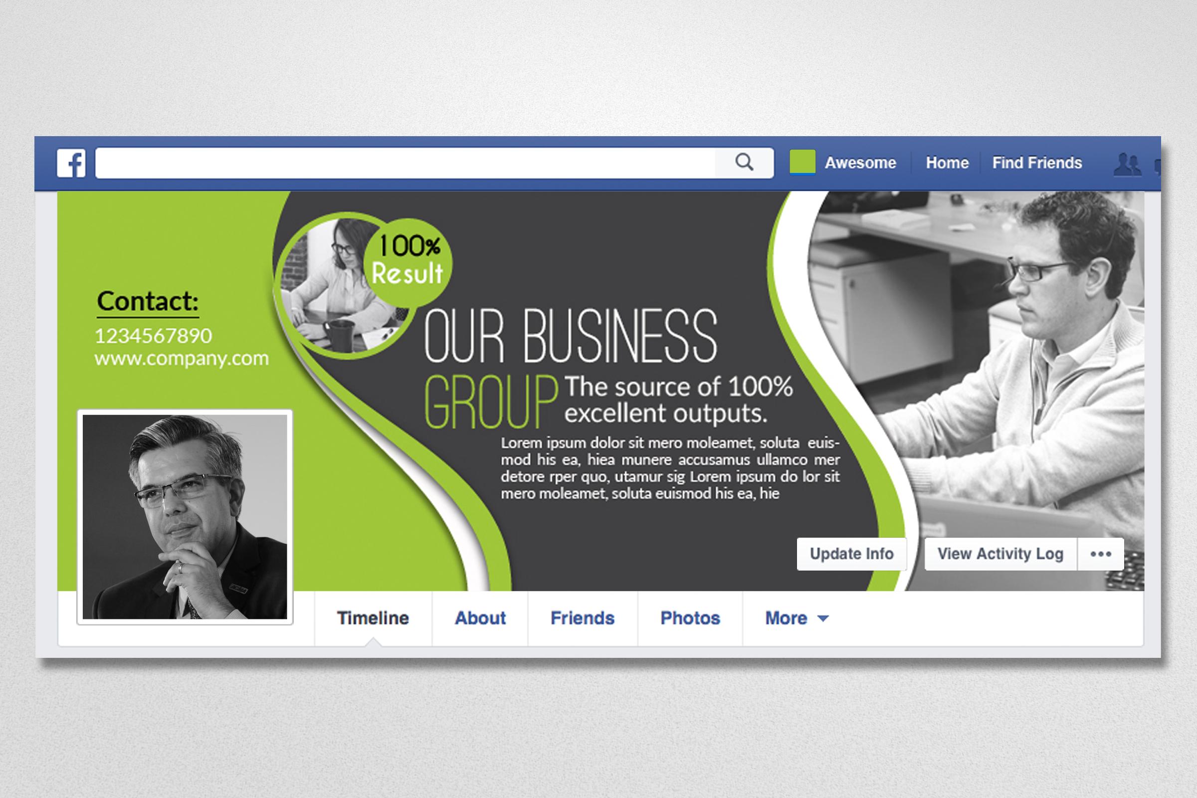 10 Business Facebook Timelines Bundle example image 5