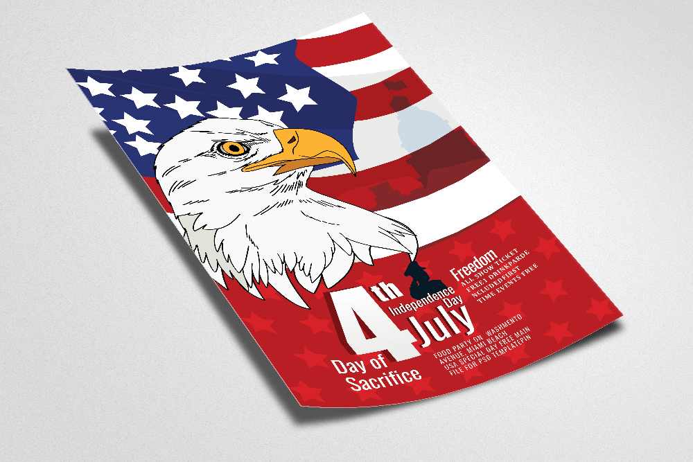 4th of July Celebration Day Flyer example image 2