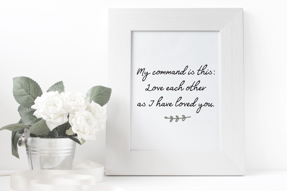 Friends Forever Font & Floral Extras example image 3