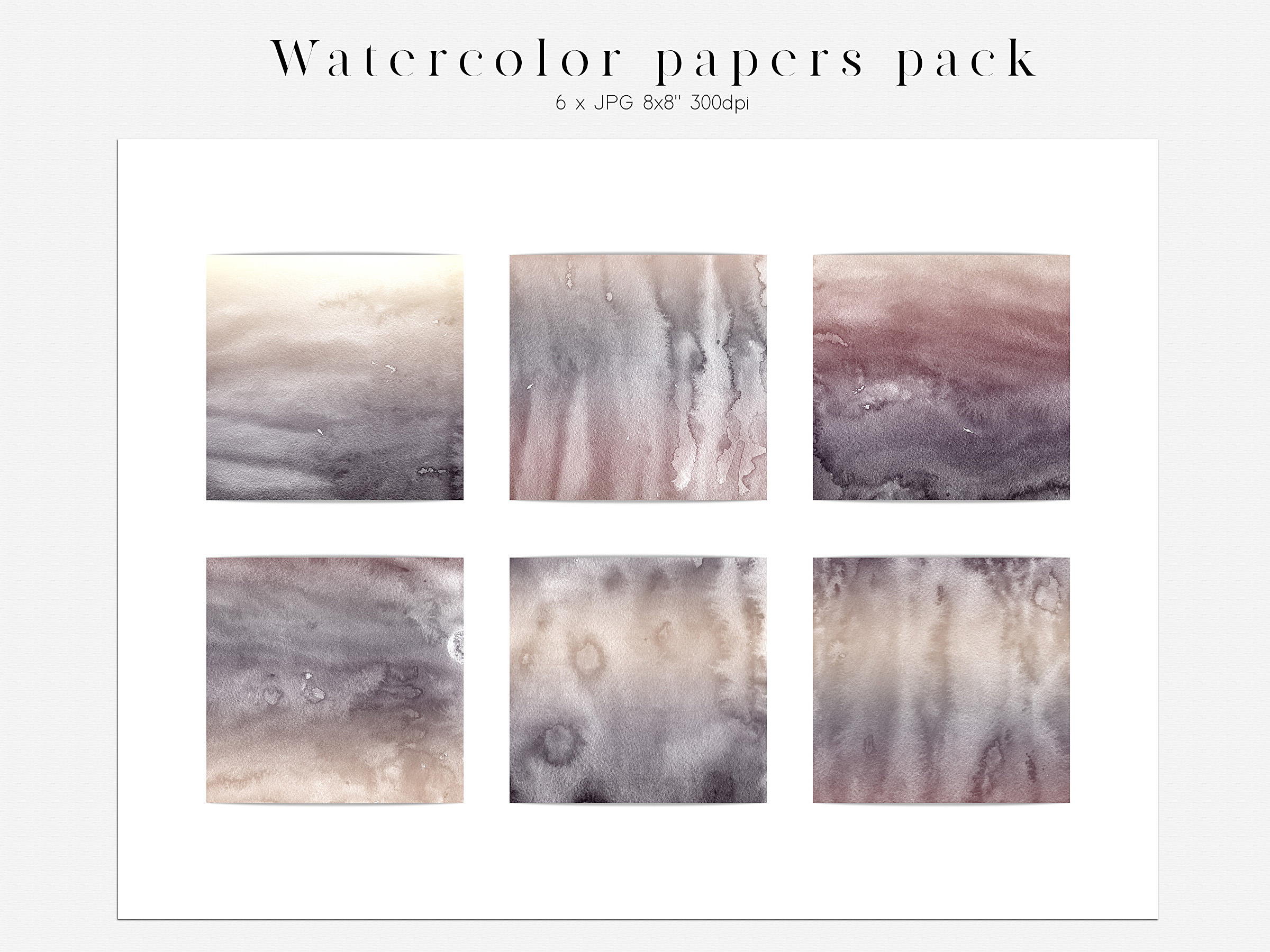 Watercolor Moon Phases Design Bundle example image 8