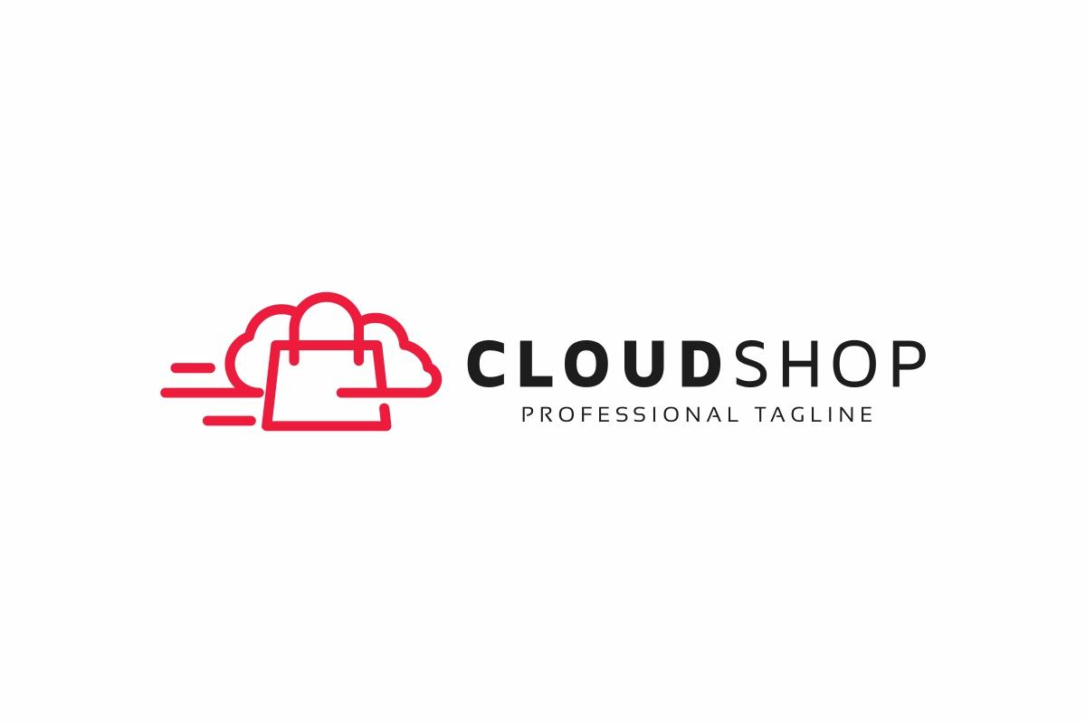 Cloud Shop Logo example image 3