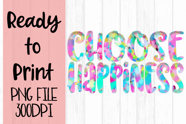 Choose Happiness Pastel Confetti Ready to Print example image 1