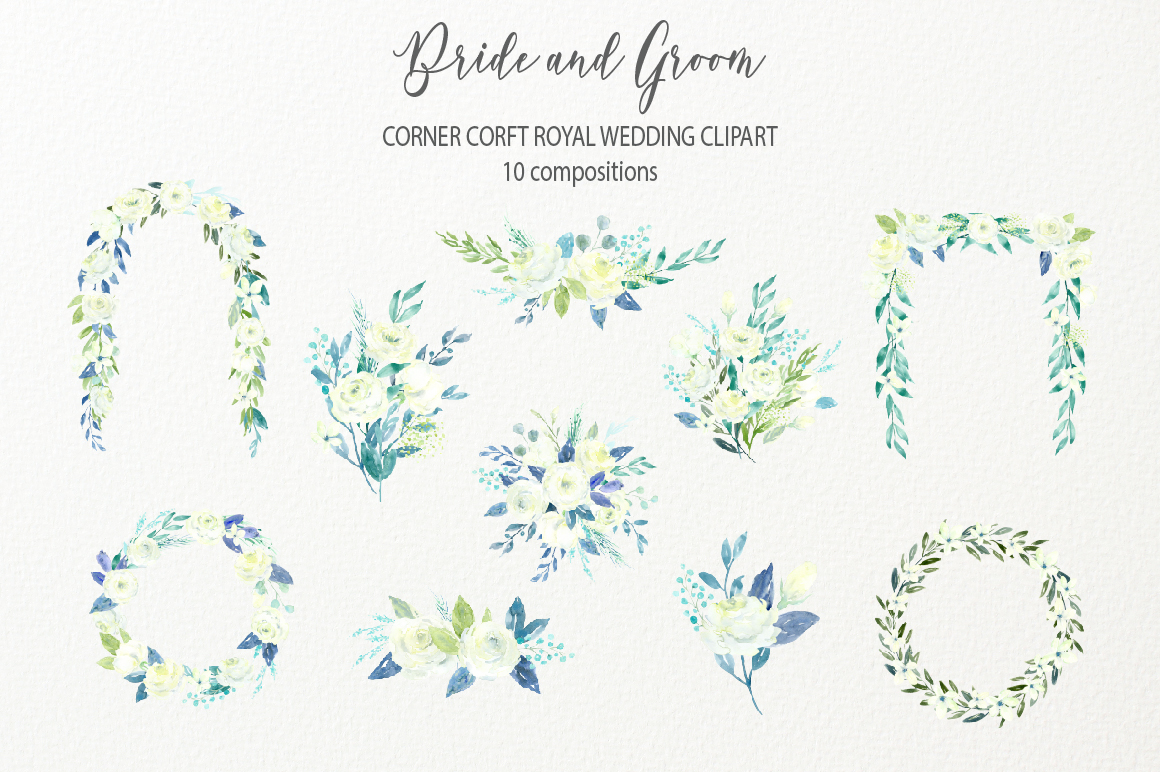 Bride and Groom Figurine Royal Wedding Clipart example image 4