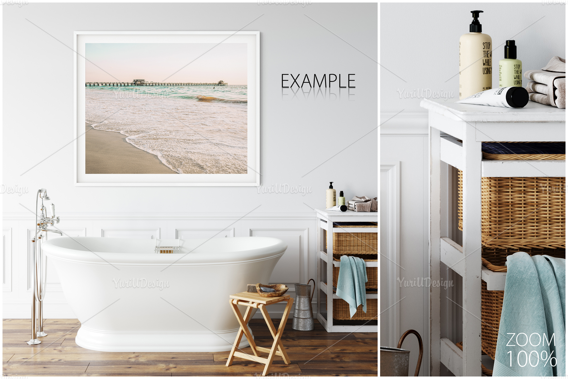 Frames & Walls Coastal Mockups Bundle example image 9