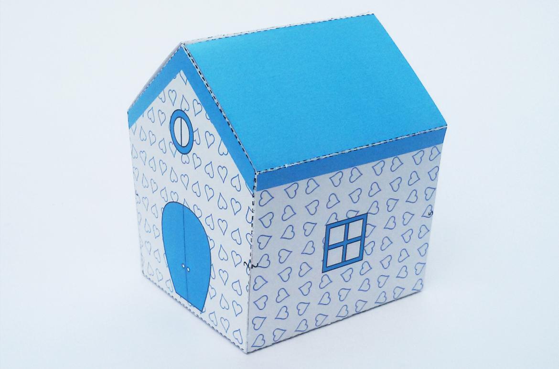 DIY Hut Favor - 3d papercraft example image 2