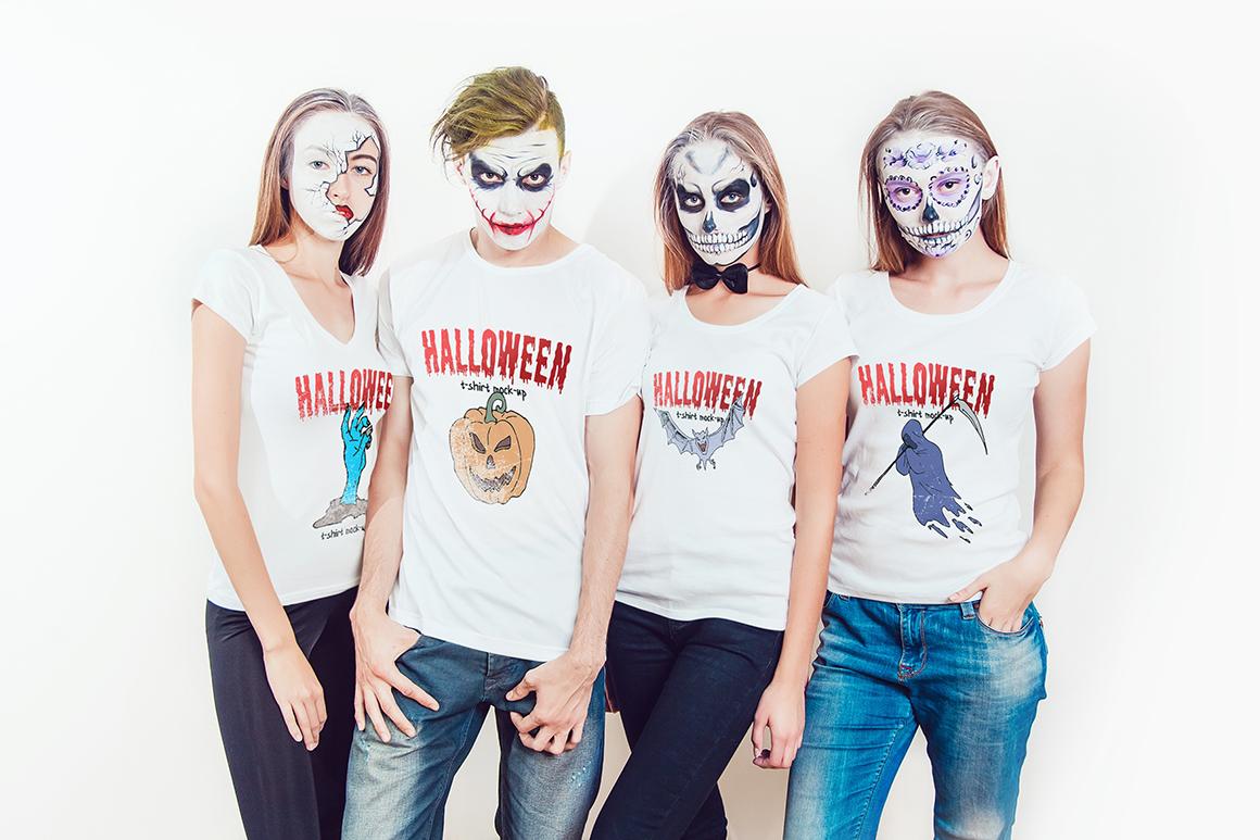 Halloween T-Shirt Mock-Up example image 2
