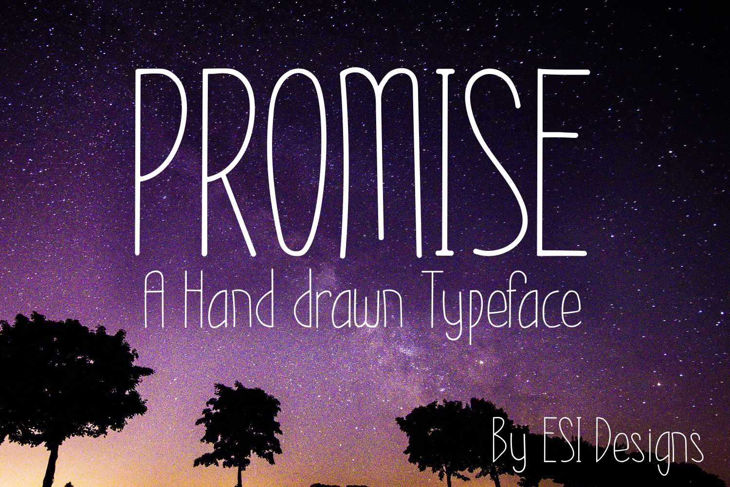 Promise - A Modern Hand Drawn Font example image 1